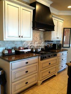 Updated kitchen cabinets by Chalkolates