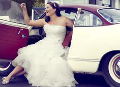 Figure flattering gowns for curvy brides