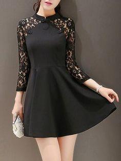 Black Formal Dress Short, Cute Short Dresses, Black Party Dresses, Lace Dress Black, Casual Dresses, Simple Frock Design, Frock For Teens, Skirt Fashion, Fashion Dresses