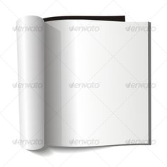 Blank magazine. Blank page.