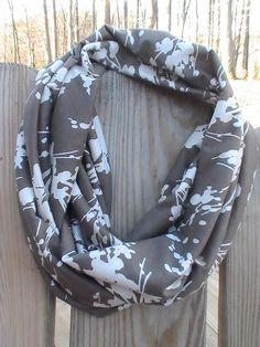 Jersey Knit Infinity Flower Silhouette by tammylynnscreations, $18.00