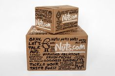Michael Bierut and his team at Pentagram have designed the new identity and packaging for online retailer Nuts.com.