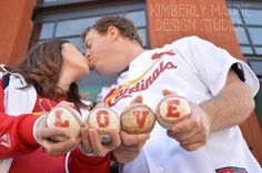 Cardinals Engagement Session © Kimberly Mahne Design Studios