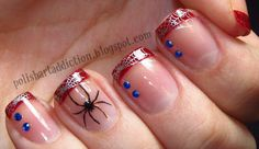 Spiderman French Tip Nail Art Tutorial   /   Polish Art Addiction