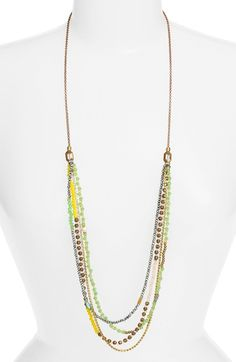 Elise M. 'Delhine' Layered Strand Necklace available at #Nordstrom