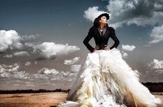 Victorian wedding dress, Sacramento Edgy Fashion Photo Shoot.
