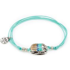 Gas Bijoux Bracelet ($69) ❤ liked on Polyvore featuring jewelry, bracelets, teal, silver plated jewelry, gas bijoux and teal jewelry