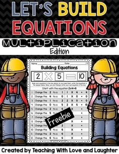 This FREEBIE is part of a larger pack. Click here to see the full pack!Perfect activity for small or large groups, stations, and homework. Students will love manipulating the numbers to come up with different equations and answers!Building equations is a fun way for students to build multiplication fact fluency.