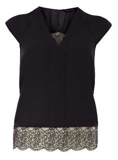 Dorothy Perkins Womens Black double layer top- Black DP05653821 Black double  layer top. wearing