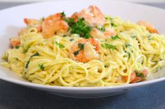 Candy Recipes, Pasta Recipes, Scampi, Fish And Seafood, Love Food, Spaghetti, Brunch, Food And Drink, Vegetarian