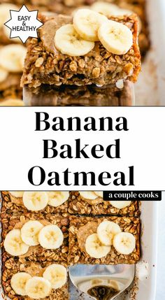 Baked Oatmeal#baked oatmeal#baked oatmeal recipes#baked oatmeal recipes breakfast#baked oatmeal recipes breakfast healthy#brown sugar baked oatmeal Banana Oatmeal Recipe, Vegan Baked Oatmeal, No Bake Oatmeal Bars, Oatmeal Breakfast Bars, Healthy Oatmeal Recipes, Baked Oatmeal Cups, Healthy Breakfast Options, Baked Banana, Banana Recipes