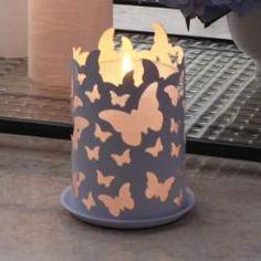 Flutter Pillar Candle Sleeve #p91038