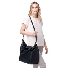 This carry-all really can do it all. Overnighter? No problem. Everyday errands? With ease. Not to mention the beautiful gold zipper closure for both a touch of elegance and a little peace of mind. This versatile bag – the larger version of our zipper tote – also comes with a detachable strap so it can be carried as a satchel or a tote. And the best part has to be the strong Argentine leather. It just gets better with age.