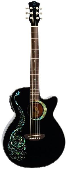 Luna Fauna Series Dragon Acoustic Guitar