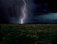 Lighting Field in New Mexico, 1977, by Walter De Maria.