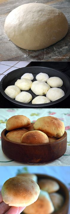 Quick dinner roll recipe ready from start to finish in about an hour.