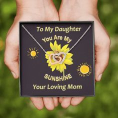 You are my sunshine Mother Daughter Interlocking Heart Necklace , momm – Shiny Jewelry Charm