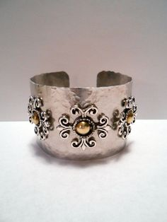 gypsy style gift shops | Junk Gypsy Style Hammered Cuff with Vintage Brass Gold Medallions and ...
