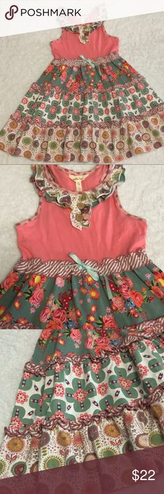 Girl's MATILDA JANE Mixed Floral Print Dress Sz 8 This is a beautiful girl's MATILDA JANE dress in a size It is cotton and spandex. Dress is brand new and free of any stains or odors. I have a smoke-free home. Spandex Dress, Matilda Jane, Pink And Green, Casual Dresses, Floral Prints, Two Piece Skirt Set, Stains, Smoke Free, Brand New