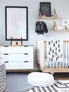 Inspiration from Instagram - Danielle Davies @daniellenicoledavies -black and white, boys room ideas, grey, black and white boys room, Scandinavian style, monochrome design kids room ideas