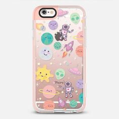 Cute Space - New Standard iPhone 6 phone case in Peach Pink by Sara Eshak #phonecase #protective #pastel | @casetify