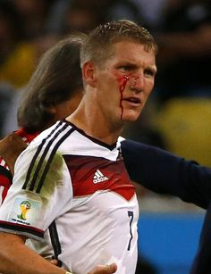 """This will be known in the annals of World Cup history as the """"Gladiator Cut"""". In retrospect, I think this propelled Germany to make that winning goal.  #Fußballgott"""