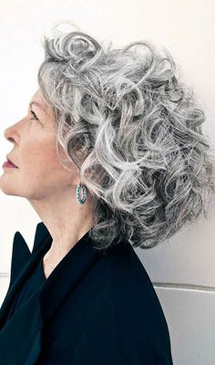 Short Curly Grey Hairstyles