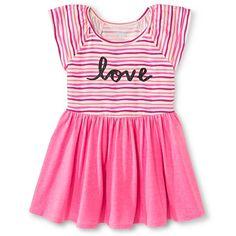 Girls' Flutter Sleeve A Line Dress - Sunglow Pink - Circo™