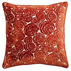 really cool pattern in this pillow! Rust colors would be great in my living room!