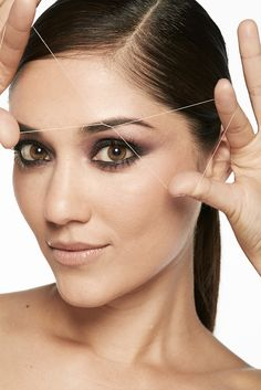Threading is a gentle hair removal process for exceptionally shaped brows. It's also great for sensitive skin.