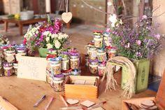 Homemade granola jars <3 themarriedapp.com hearted <3