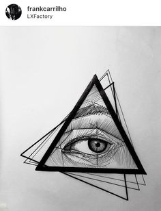 Doska Pair Tattoos, Body Art Tattoos, Tattoos For Guys, Tattoo Sketches, Tattoo Drawings, All Seeing Eye Tattoo, Triangle Eye, Geometric Shapes Art, Egypt Tattoo