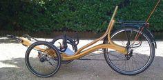 vélo couché en bois Zélo par Zéloko http://www.borisbeaulant.com/creations/