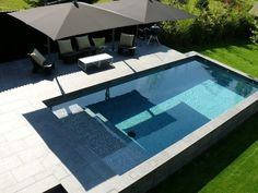 Superbe piscine mosaïque