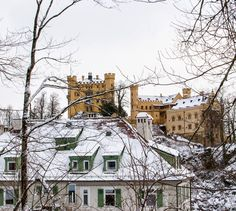 Visiting a Fairytale Castle in the Snow - Neuschwanstein Castle, Germany | Running White Horses | Fashion + Travel