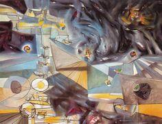 Roberto Matta, Años de miedo, 1941. Óleo sobre lienzo. 111 x 142 cm. Museo Guggenheim. Nueva York.