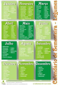 Calendário de sementeiras