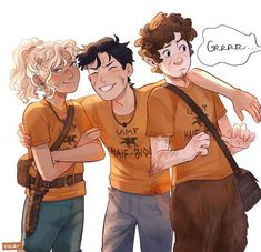 "Viktoria Ridzel on Instagram: ""Never ""Grrrr"" at Percy when he's having a moment. He will not be pleased. #pjo #annabethchase #percyjackson #groverunderwood #percabeth…"""