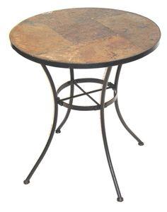 Slate Patio Table w Metal Base  $94