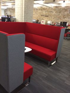 This oversized Monolite Booth is just another example of how flexible and fun Monolite can be. Made of two 3-seat sofas and a connecting back, this booth provides room for collaboration and comfort, as well as privacy for those impromptu meetings. Find out more about Monolite here: http://hightoweraccess.com/product/monolite/