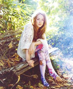 saoirse ronan - floral tights