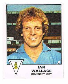 Ian Wallace of Coventry City - Football 80 - Panini - English & Scottish Leagues Coventry City, Football Season, Russia, Blues, English, Sky, Baseball Cards, Heaven, Heavens