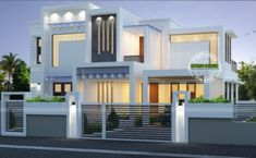 2224 Square Feet Square Meter) Square Yards) contemporary style house in majestic look. Design provided by Kerala Home Design. Two Story House Design, 2 Storey House Design, Bungalow House Design, House Front Design, Design Your Dream House, Modern House Design, Door Design, Online Architecture, Architecture Magazines