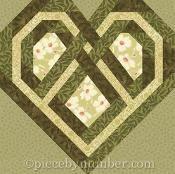 Celtic Heart paper pieced quilt block - via @Craftsy