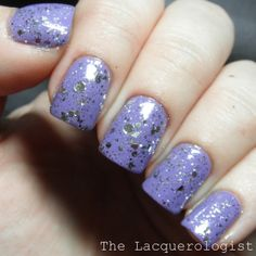 Philly Loves Lacquer Fancy Winter Wench Collection: Shooting Stars over Milani Vivid Violet