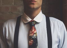 Floral and Suspenders. Taft Fashion