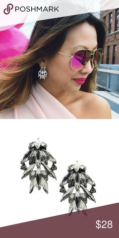 "🆕 Crystal Cluster Earrings T&J Designs EXCLUSIVE 😍 Prettiest crystal droplet design earrings. 2"" x 1"". T&J Designs Jewelry Earrings"
