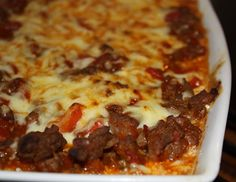 Kjøkkenkroken: Tacograteng Pepperoni, Lchf, Lasagna, Tacos, Food And Drink, Pizza, Soup, Baking, Ethnic Recipes