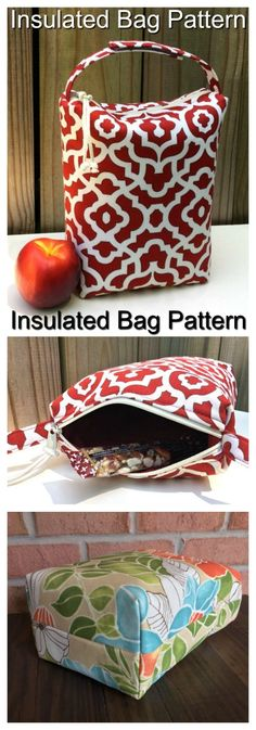 Sewing Patterns Diy Insulated lunch bag pattern - Sew Modern Bags - This eco-friendly and reusable lunch bag is perfect for carrying food Diy Craft Projects, Easy Sewing Projects, Sewing Projects For Beginners, Sewing Crafts, Sewing Tips, Sewing Tutorials, Bags Sewing, Sewing Hacks, Sewing Ideas