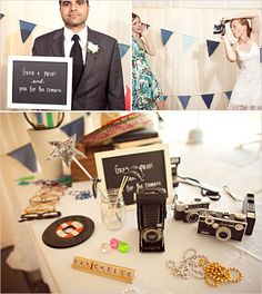 Looks like a DIY photo booth… Leave some props and cameras and let the guests do their own photo booth pics. I could totally do this on my budget! Wedding Blog, Diy Wedding, Wedding Reception, Dream Wedding, Wedding Ideas, Wedding Pics, Diy Photo Booth, Wedding Photo Booth, Photo Booths